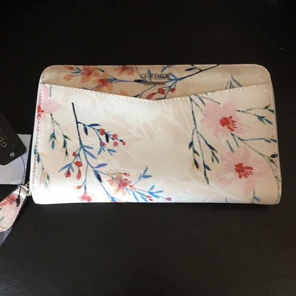 Guess Handbags - New Lg. Guess Japanese Garden Wallet Clutch